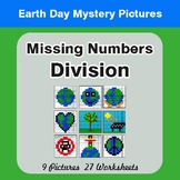 Earth Day: Missing Numbers Division - Color-By-Number Myst