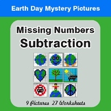 Earth Day: Missing Numbers Subtraction - Color-By-Number M
