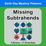 Earth Day: Missing Subtrahends - Color-By-Number Mystery Pictures