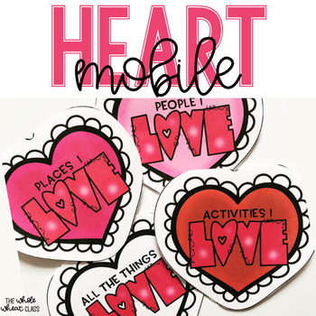HEART Mobile Craft for Valentines Day