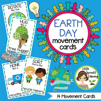 Earth Day Movement Cards (14 Different Movements)