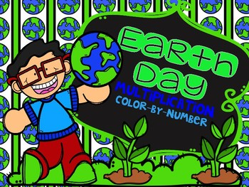 Earth Day Multiplication Color-By-Number