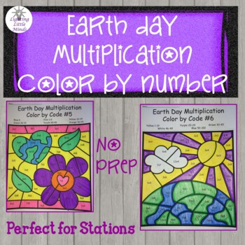 Earth Day Multiplication Color by Code