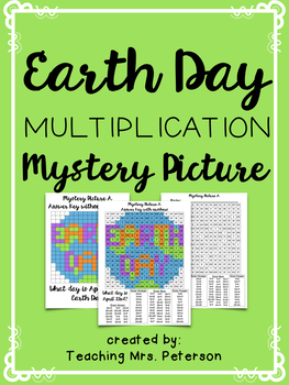 Earth Day Multiplication Mystery Picture
