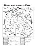 Earth Day Multiplication Practice Coloring Sheet