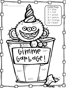 Earth Day Multiplication Print and Go