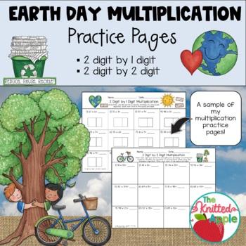 Earth Day 2 Digit Multiplication Sampler Pack