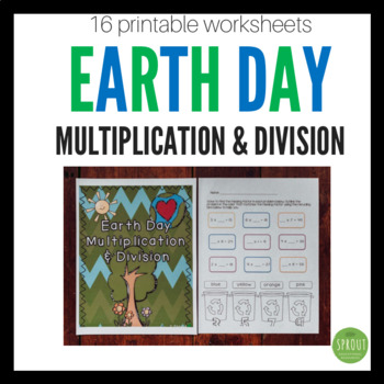 Earth Day Multiplication and Division