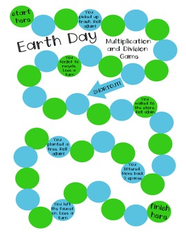 Earth Day: Multiplication and Division Game