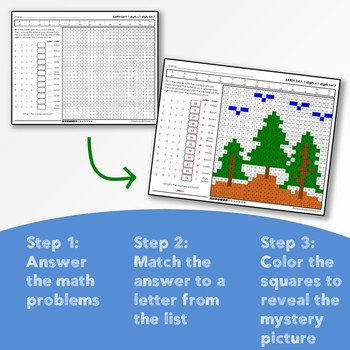 Earth Day Multiplication and Division Mystery Pictures