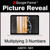 Earth Day: Multiplying 3 Numbers - Google Forms Math Game