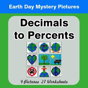 Earth Day: Multiplying Decimals - Color-By-Number Mystery Pictures