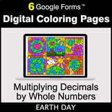 Earth Day: Multiplying Decimals by Whole Numbers - Digital