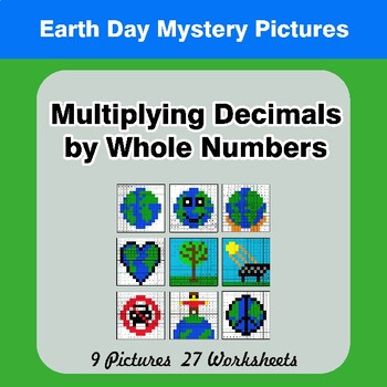 Earth Day: Multiplying Decimals by Whole Numbers - Math Mystery Pictures