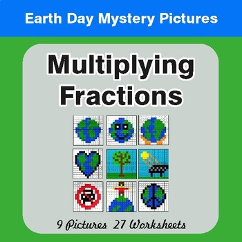 Earth Day: Multiplying Fractions - Color-By-Number Mystery Pictures