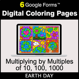 Earth Day: Multiplying by Multiples of 10, 100, 1000 - Dig
