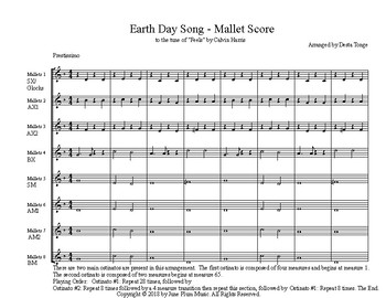 "Earth Day arrangement of Calvin Harris ""Feels"" for Orff/ Marimba /Boomwhacker"