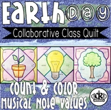 Earth Day Musical Note Color by Code
