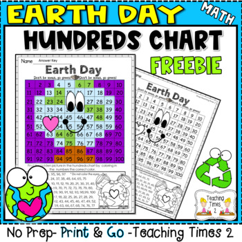 Earth Day Freebie Mystery Picture-Hundreds Chart Fun