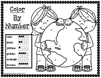 Earth Day: NO PREP Math Printables