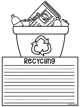 Earth Day Writing Crafts Bundle (No Prep!)