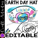 Earth Day Name Hat Printable | Earth Day Editable Name Practice Crown