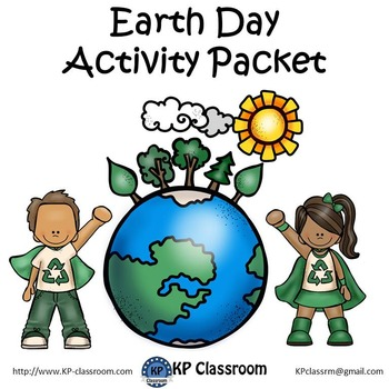 Earth Day No Prep Activity Packet Printable Worksheets