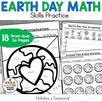Earth Day No Prep Math Printables Grades 2-5
