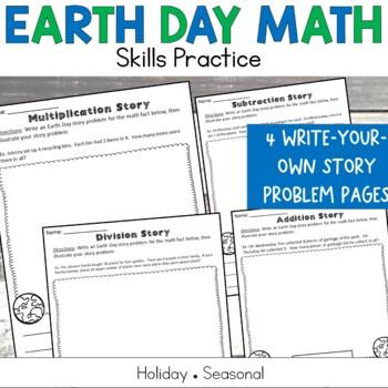 Earth Day No Prep Math Printables Grades 2-5