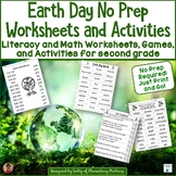 Earth Day No Prep Printables for Literacy and Math