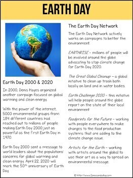 Earth Day Non-Fiction Article