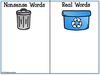 Earth Day Nonsense Word Sort