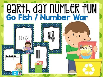 Earth Day Number Card Game #0-20