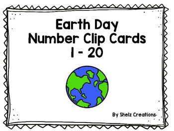 Earth Day Number Clip Cards