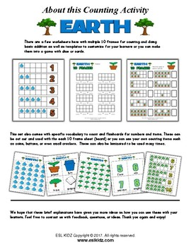 Earth Day Number Counting Activities