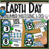 Earth Day Number Matching for 1-20, tens frame, words, num