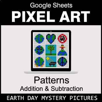 Earth Day - Number Patterns: Addition & Subtraction - Google Sheets