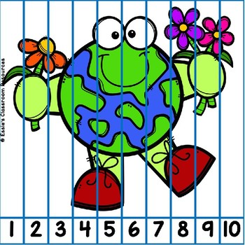Earth Day Number Puzzles FREEBIE