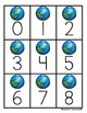 Earth Day Number and Ten Frame Cards FREE