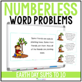 Earth Day Numberless Word Problems Addition and Subtraction to 10