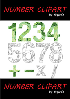 FREEBIE Earth Day Numbers Clipart Set