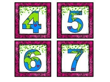 Earth Day Numbers Match Up Math Center