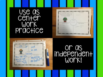 Earth Day One Step Word Problems within 100!
