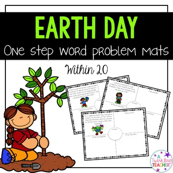 Earth Day One Step Word Problems within 20!