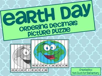 Earth Day Order Decimals Picture Puzzle