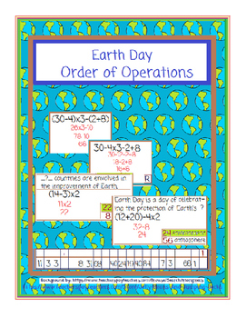 Earth Day-Order of Operations 1