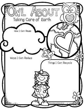earth day owl about taking care of the earth by kelly benefield. Black Bedroom Furniture Sets. Home Design Ideas