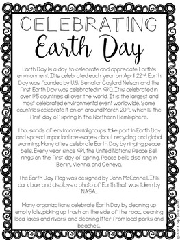 Earth Day Paper Bag Book - Holidays Paper Bag Books
