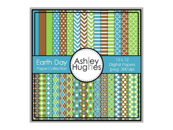 12x12 Digital Paper Set: Earth Day Collection {A Hughes Design}