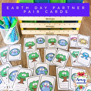 Earth Day Partner Pair Cards with Engagement Questions